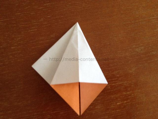 朝顔の折り方10