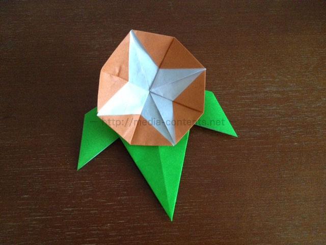 簡単 折り紙 折り紙 朝顔の折り方 : media-contents.net
