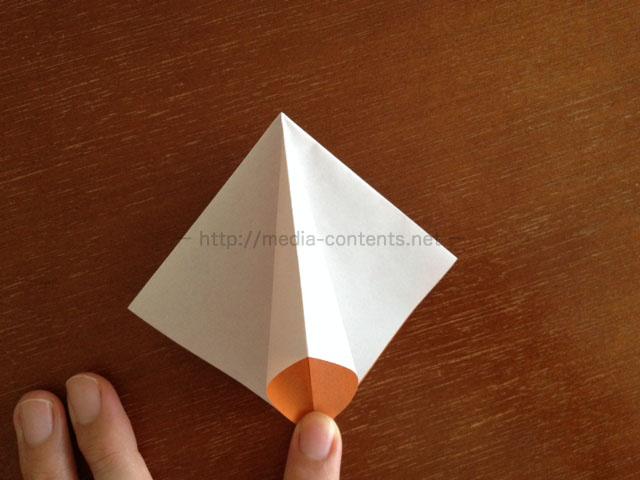 朝顔の折り方9