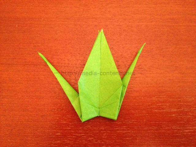 鶴の折り紙17