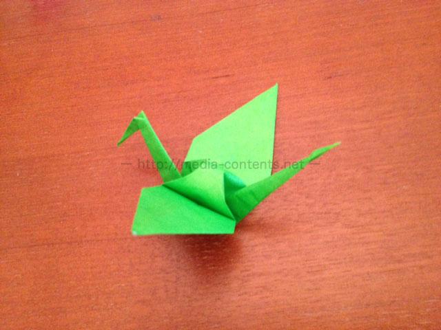 鶴の折り紙19