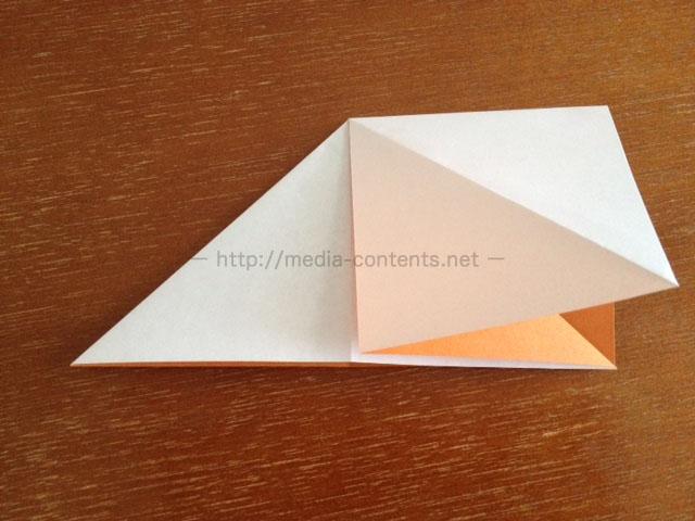 朝顔の折り方7