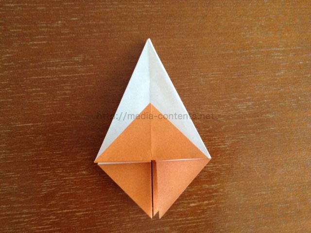 朝顔の折り方14
