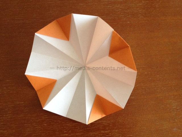 朝顔の折り方16