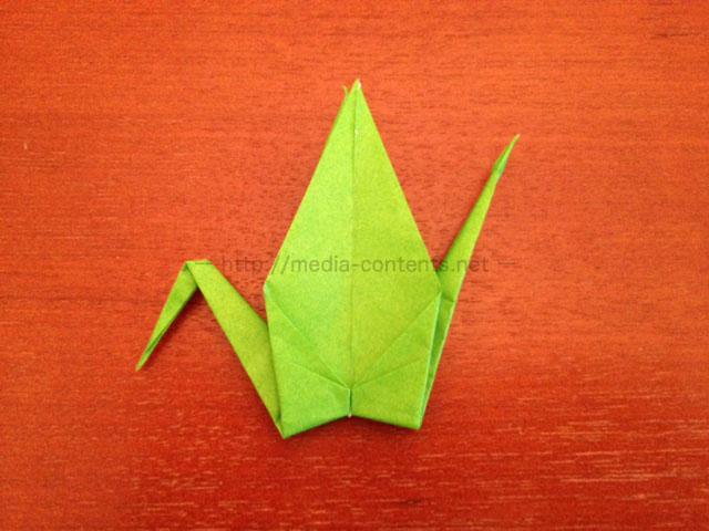 鶴の折り紙18