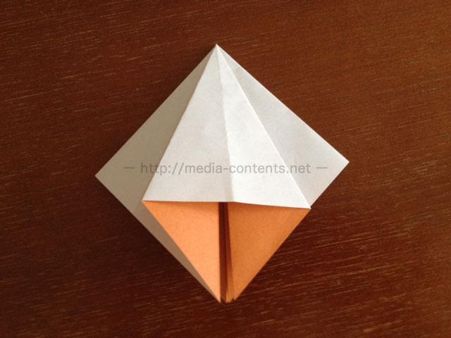 朝顔の折り方11