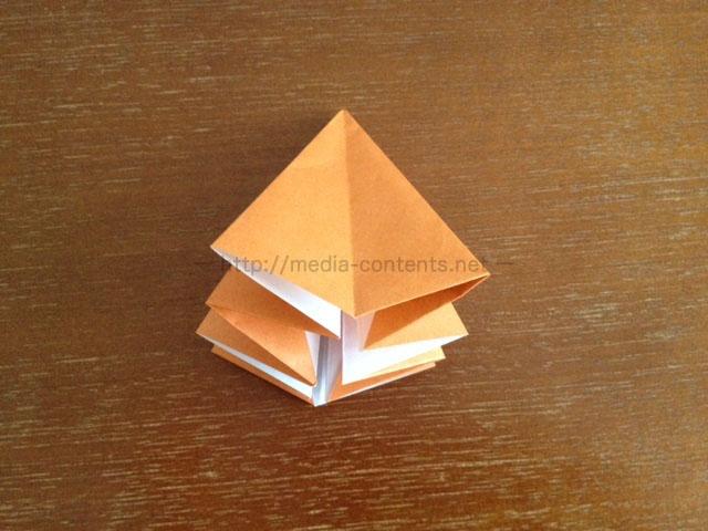 朝顔の折り方17