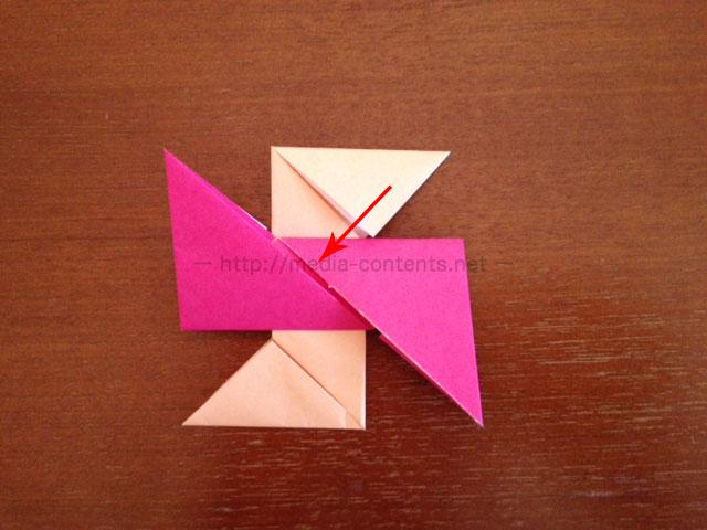 手裏剣の折り方8