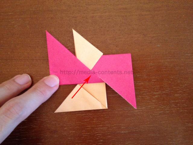 手裏剣の折り方13