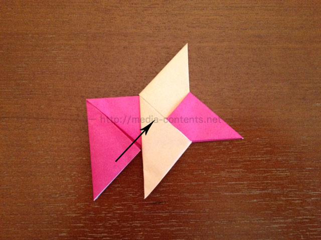 手裏剣の折り方16