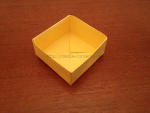 折り紙の箱のシンプルな折り方!正方形を使って簡単に作ろう!