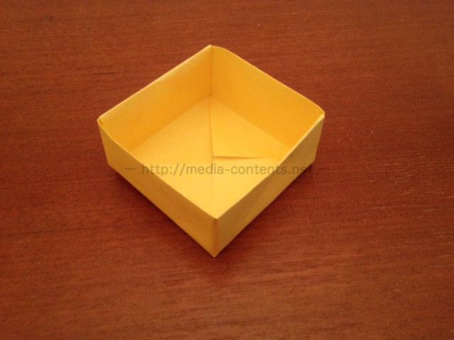 ハート 折り紙 折り紙 箱 正方形 : media-contents.net