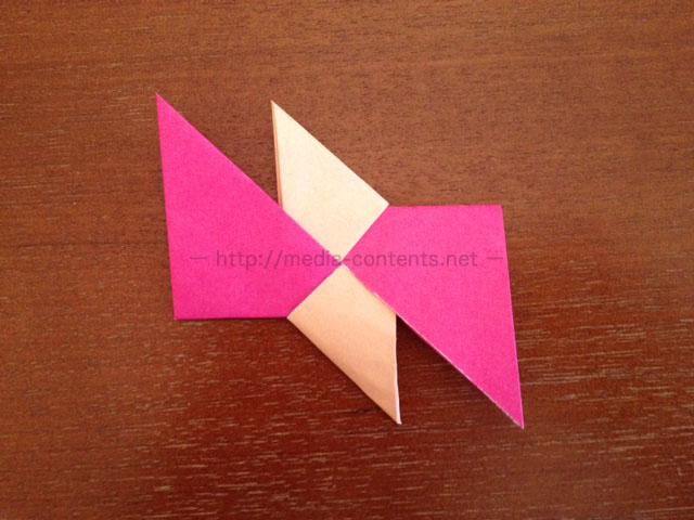 手裏剣の折り方9