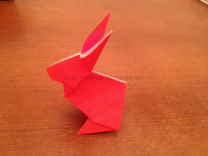 折り紙のうさぎの簡単な折り方!立体的だけどシンプルです!