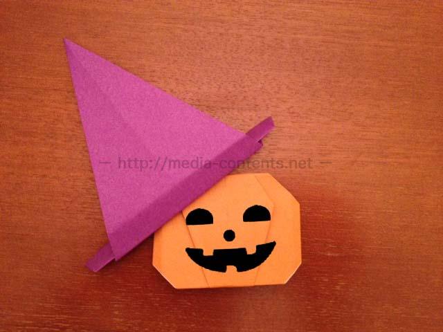すべての折り紙 折り紙 魔女の折り方 : 折り紙の帽子の折り方♪ ...