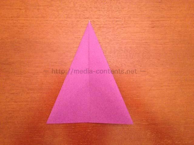 すべての折り紙 折り紙 帽子 立体 : 下から、上に向かって3回折り ...
