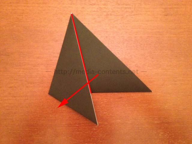 すべての折り紙 折り紙 帽子 立体 : さらに、赤い線の位置で折って ...