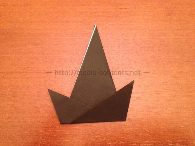 すべての折り紙 折り紙 帽子 立体 : 用に折り紙の立体帽子 ...