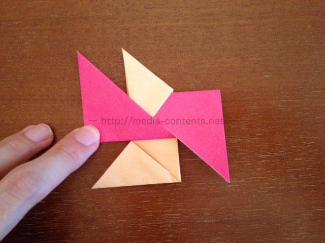 手裏剣の折り方6