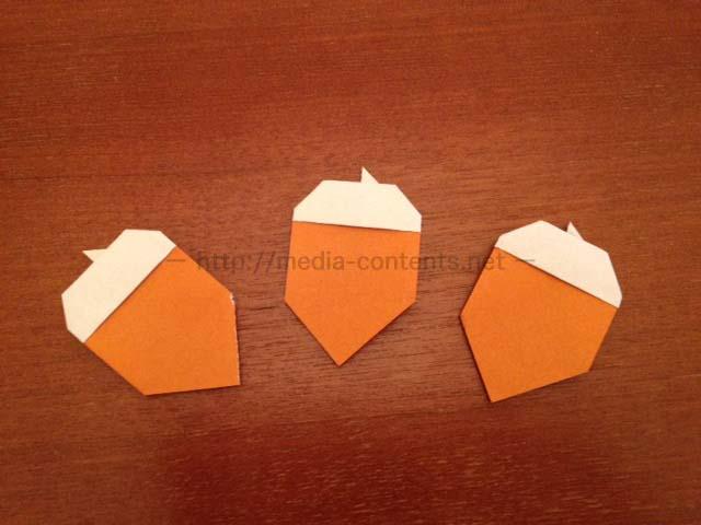 折り紙のどんぐりの折り方!簡単に秋を彩る♪