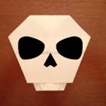 折り紙のがいこつの折り方!ハロウィンの飾り付けにどうぞ♪