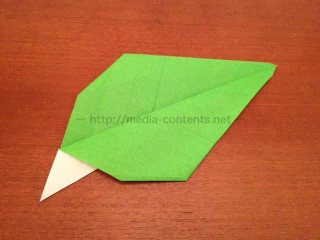 ハート 折り紙 折り紙 葉っぱ 折り方 : media-contents.net