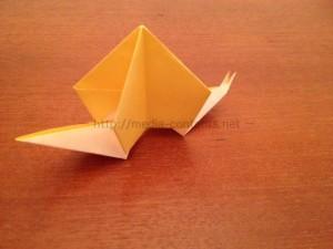 折り紙のかたつむりの折り方!簡単だし意外とリアルかも♪
