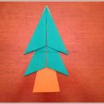 折り紙で簡単!クリスマスツリーの折り方♪平面だけど見た目良し