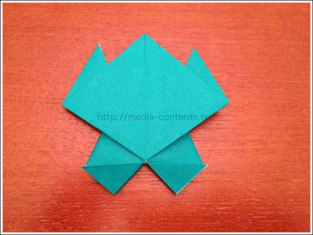 クリスマス 折り紙:折り紙 かえる 折り方-divulgando.net