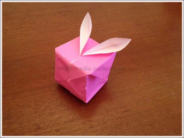折り紙で作る風船うさぎの折り方!子供でも簡単だよ♪