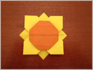 折り紙のひまわりの折り方!平面なので簡単に作れます♪
