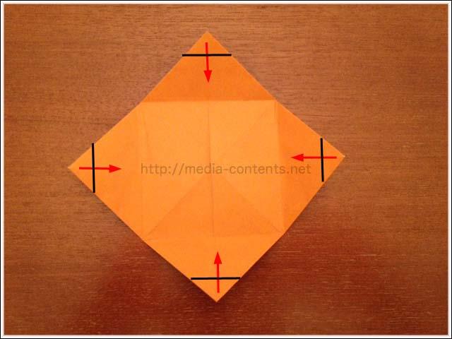 ハート 折り紙 折り紙ひまわり葉っぱ折り方 : divulgando.net