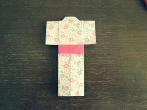 折り紙の着物の折り方!子供も簡単につくれます♪