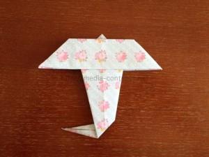 折り紙の傘の折り方!まずは簡単な平面で作ってみよう!