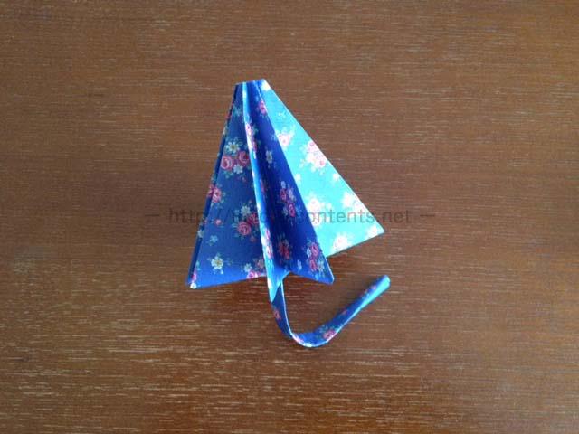 折り紙の傘の折り方!立体だけど子供でも作れます♪