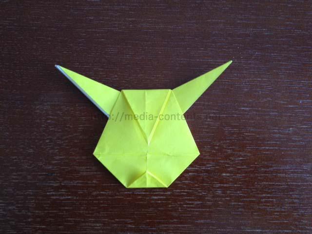 折り紙の アンパンマン折り紙の折り方 : のピカチュウの折り方!折り紙 ...