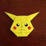 ポケモンのピカチュウの折り方!折り紙で簡単に表現しよう!